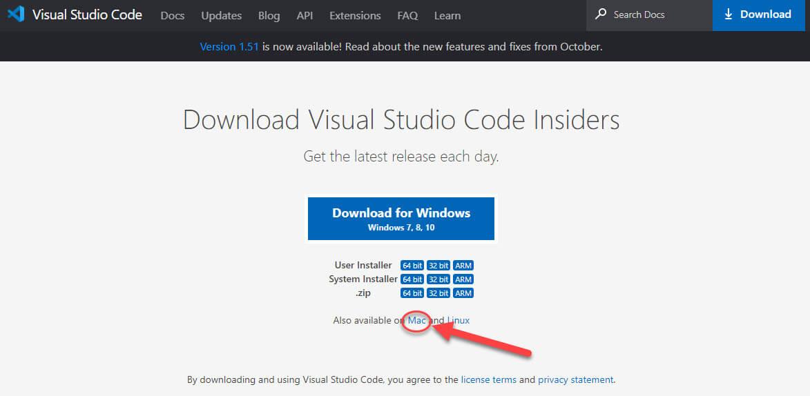 Download Visual Studio Code step 2